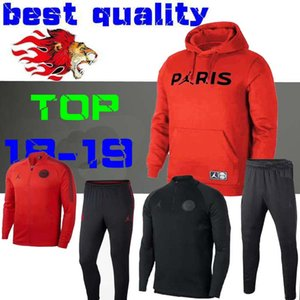 2018 2019 Psg Jordam Jacke Trainingsanzug Champions League Survetement 18 19 PSG MBAPPE Fußballjacken POGBA Fußball Sweatshirt Trainingsanzug