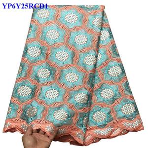 Высокое качество швейцарский вуаль кружева с камнями африканской кружевной ткани набор для нигерийской свадьбы кружевной ткани 100% хлопок материал CCV00