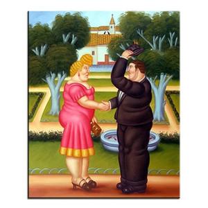 Fernando Botero Fat girl Fat Man Envío gratis, pintado a mano, retrato clásico, pintura al óleo sobre lienzo Home Deco Wall Art Multi tamaño fr15