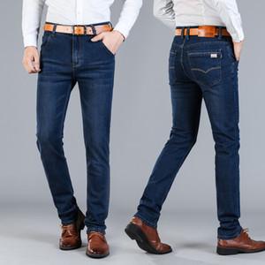 Nuovo marchio di jeans da uomo Jantour-Abbigliamento uomo Pantaloni blu uomo Pantaloni di flanella di qualità uomo Pantaloni casual Jean Grande taglia 40 42 44 46 Vendita calda
