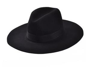 Cappelli da donna di lusso Cappelli da fedora da uomo in lana vintage autunno inverno Cappelli da donna in feltro Floppy Trilby cappello da donna spedizione gratuita