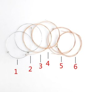Acoustic Guitar String 6 pcs  Set Silver Pure Strigning For Guitarra Bass Parts & Accessories Strings for Acoustic Guitars 10