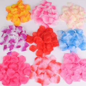 2000pcs / lot 5 * 5 cm soie pétales de rose pour la décoration de mariage pétales artificiels mariage confetti fête événement décoration pétales de mariage Flowe