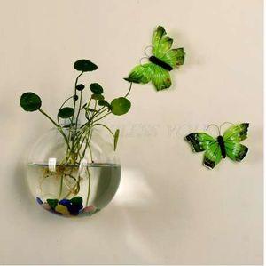 8 cm semicircular vaso de vidro pendurado hydroponic tanques de peixes de terrário vaso de casamento decoração de casa planta vaso de flores