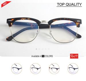 2019 Designer de marca de óculos mestre homens quadro de prescrição mulheres semi sem aro Retro óculos Oculo De Sol Feminino retro lente clara 5154