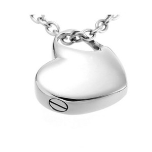 wholesale Heart Pendant Cremation Urn Jewelry Necklace with Funnel Filler Kit Ashes Keepsake Memorial