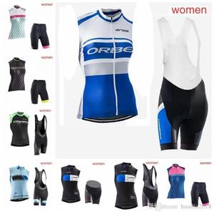 NW ORBEA 팀 사이클링 민소매 저지 조끼 (앞치마) 반바지 여성용 자전거 의류 착용 편안한 착용 E0810