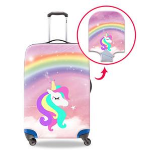 Çocuklar Güzel Gökkuşağı Unicorn Tasarımcı Bagaj Koruyucu İçin Kapaklar 18-30 İnç 3D Baskı Hayvan toz geçirmez Çanta Kapak İçin Yolculuğu