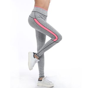 New Hot Women Lady Activewear Legging Sport Summer Light Grey Pant Autumn Leggins de cintura alta 1208