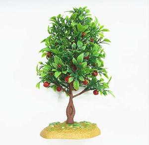 Satış Dekorasyon Yapay Bitkiler 21 cm Plastik Simülasyon Ağaç Ağaçları Peyzaj Bitki Dekorasyon Meyve Kum Tablo Modeli