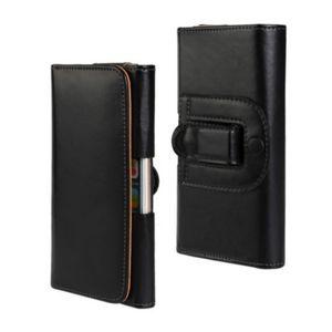 Universal Belt Clip PU Leather Waist Holder Flip Pouch Case for Asus Zenfone 4 Selfie Lite 4 Max ZC520KL Pegasus 3s