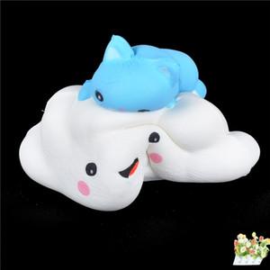 Kawaii Животное Киска Кошка Облако Мягкая Медленно Восходящий Хлеб Подвески Подарки Squishies Kitty Squish Toys Squeeze Cute Jumbo Scentedy