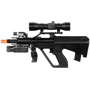 AUG STYLE SPRING AIRSOFT RIFLE Laser Linterna Red Dot Scope