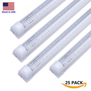 V Форма LED T8 LED Tube Light 8FT 2FT 4FT 5FT 6FT 8 футов 120W двухрядные трубы Свет AC85-277V Главная Светодиодное освещение