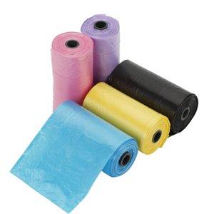 100 adet / 5 Rolls Taşınabilir Degradable Pet Köpek Poop Çanta Dolum Köpek Kedi Atık Pick Up Temiz Çantalar Plastik Çöp Taşıma Çantası