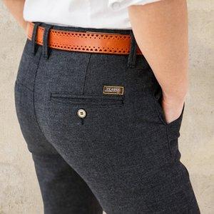 Мужские повседневные брюки бизнес прямая трубка корейская версия черный мужской молодежный тренд-sofo