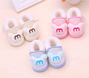 New baby 0-1 years old winter thickening warm cotton shoes baby toddler soft bottom children shoes snow boots