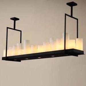 Kevin Reilly Altar Modern Lampada a sospensione Lampadario a LED con telecomando Lampadario Illuminazione Lampada a sospensione a forma di candela in metallo