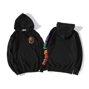 18ss Mens designer vestes Un hip hop de baignade Singes tête Ape Hoodie Camo Zip à capuche coupe-vent veste pour homme femme taille m-2xl