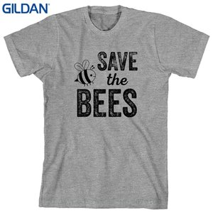Sconto all'ingrosso T-shirt stampata T-shirt manica corta da uomo O collo T-Shirt Estate Stree Twear Save The Bees - Camicia da uomo