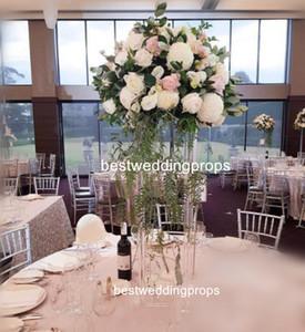 الاكريليك واضحة زهرية أعمدة الزفاف طويل القامة زهرة حامل الزهور محور الجدول الطابق الدعائم الدعامة الديكور best000031