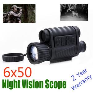 WG650 적외선 디지털 야간 투시경 범위 비디오 레코더 야간 헌터를위한 카메라와 함께 숲의 야간 사냥 Monocular