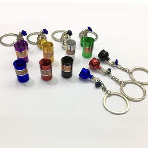 NOS Botellas de Nitrógeno Llavero de Metal Clave Llavero Titular de Coche Creativo Llavero Bolsa Colgante de Joyería para Mujeres Hombres