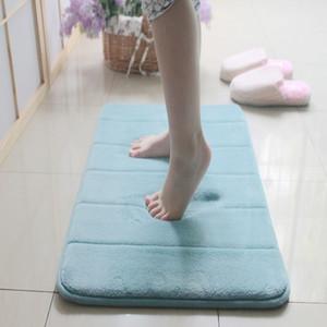 Neue Memory Foam Coral Velvet Wasseraufnahme Teppich Badezimmer Matte Shaggy Memory Foam Badematte Set Küchentür Boden Teppich Teppich Decke