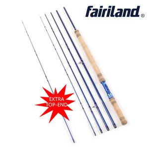 Fairiland 2018 Yeni Fly Fishing Rod ile yedek üst ucu 3.4 M 5 Bölümler 6/7 7/8 8/9 Karbon Fly Olta kutup Alüminyum Makara Koltuk Fly Çubuk