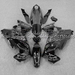 23colors + 5Gifts Silver Flames GSX600F 2003 -2006 GSX750F 03 04 05 06 Motocicleta Katana Carenado para Suzuki ABS Carenado de plástico
