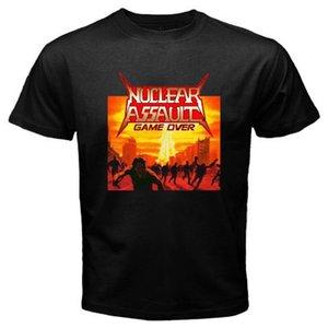 NUCLEAR ASSAULT GAME OVER '86 Lixo Banda de Metal dos homens T-Shirt Preta Tamanho S para 3XL T Shirt Tópico Quente Homens de Manga Curta