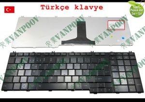 Novo Teclado para laptop Toshiba Satellite A500 A505 A505D F501 L535 Qosmio X505 Preto Brilhante Versão TR Turco - V101602AK1 TR