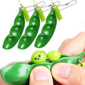 Squishy toy Antistress Novedad Gag Toys Entretenimiento Diversión Squishy Beans Squeeze Funny Gadgets Stress Relief Juguete Colgantes Regalos para niños