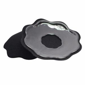 Sin tirantes 5 pares de forma de pétalos Pastillas Pezón Reutilizable de silicona Pastillas de mama Almohadillas Cubiertas Sujetador Impermeable Autoadhesivo Íntimos Accesorios
