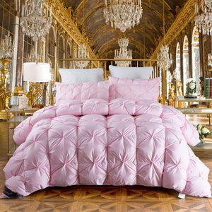 Gros- TUTUBIRD hiver / canard duvet de plumes Rose Chaud couette couette Couverture Consolateur Filler avec King size Reine double