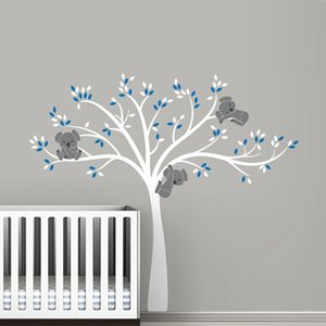 oversized Large Koala Tree Wall Decals for baby nursery vinyl wall stickers room decoration free shipping