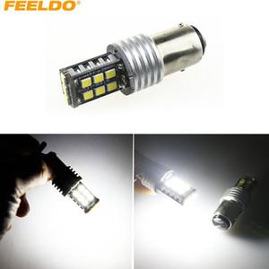 FEELDO 2 PCS DC12V Voiture / Camion 1157 BAY15D 15SMD 2835-Puce Tourner Parking LED Phare Lampe Ampoules # 3256