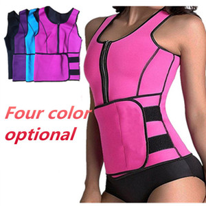 2018 Body Shaper Neoprene Sauna Slimming Vest Waist Trimmer with Adjustable Waist Trainer Belt Women Tops