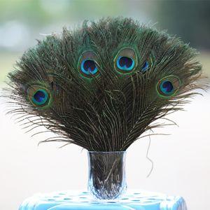 أنيقة الطاووس ريشة مواد الديكور عيون كبيرة الطبيعية 80 إلى 90cm زهرة الزفاف ريش جميل عناصر الجدة حجم كبير