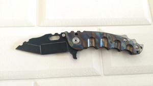 Heeter Knifeworks M-O-W Ağır Katlama Bıçak Siyah S35VN Blade Titanyum Kol Açık Taktik Kamp Araçları Cep EDC Hızlı Kargo