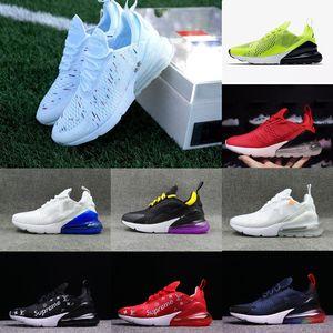 Nike Air Max 270 airmax 남자 신발 블랙 트리플 화이트 쿠션 여자 망 스니커즈 패션 육상 운동가 러닝 신발 크기 36-45
