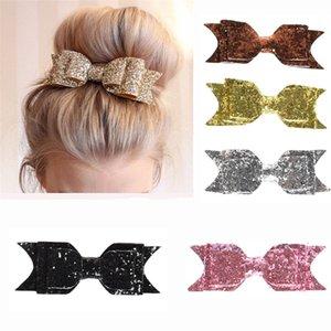 Pinza de pelo de las mujeres del bebé 12 CM Big Glitter Hair Bow Kids Hairpins Clip para niños accesorios para niños Headwear
