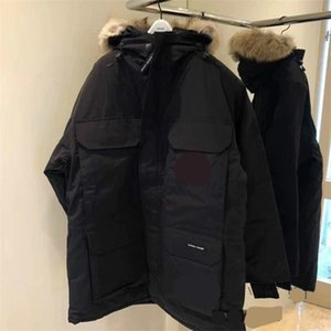 Men Parkas WINTER CANADA EXPEDITION-2 GOOSE Down & Parkas WITH HOOD Snowdome jacket Brand Real Raccoon Collar White Duck Outerwear & Coats
