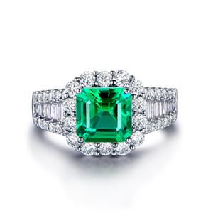 2020 transfronteiriças explosões exclusivos requintado anel de boutique de prata esmeralda anel de diamante zircão dos homens