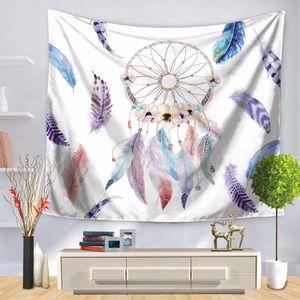 150 cm * 130 cm Romantische Dreamcatcher Wandteppiche Wandbehang Traumhaft Bunte Wandteppich Federn Dekorative Wandteppich