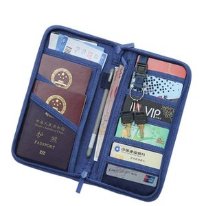 Casual Function Passport Holder Solid Travel Accessories Passport Cover Storage Organizer Business Credit ID Card Wallet Case
