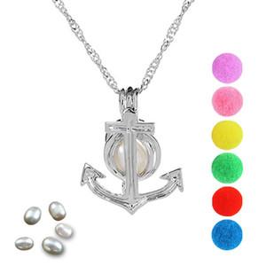 Perlenkäfig Anker Medaillon Anhänger Erkenntnisse Käfig ätherisches Öl Diffusor Medaillon für Oyster Pearl Fibre Ball