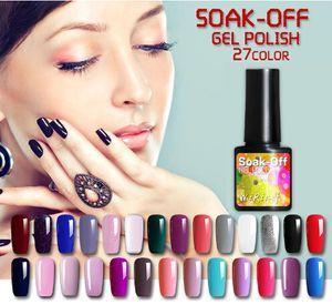 27 цветов 8 мл чистый полупостоянный гель для ногтей УФ-светодиодный лак гибридный длительный УФ-гель лак для ногтей