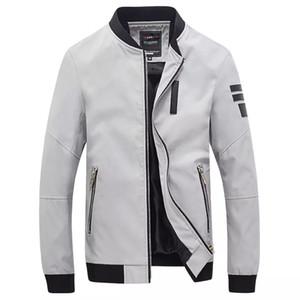 2017 새로운 폭격기 재킷 남자 Veste Homme 가을 Mens 유행 Pu 가죽 Splice Windproof 지퍼 Varsity 야구 재킷 5Xl