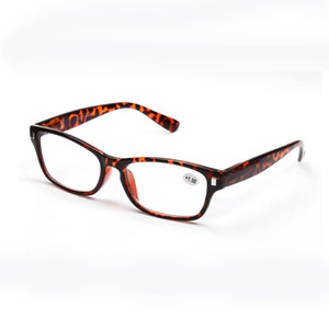Vintage Reading Glasses Resin Lens Eyeglasses Women Eyewear Leopard Plastic Frame Eye Reader +1.0~+3.5 Strength